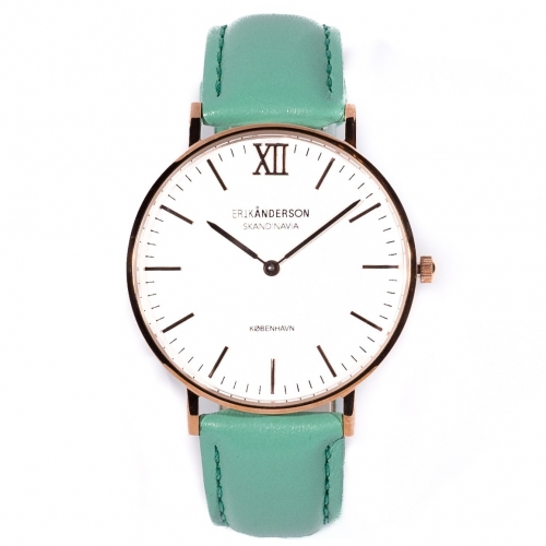 København - Rose Gold / Mint Green Leather