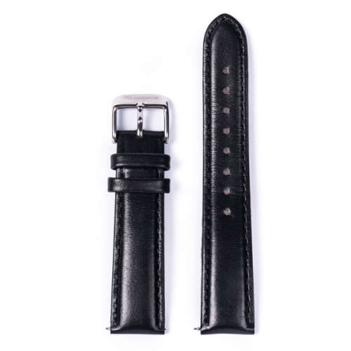 Strap: Black Leather/ Silver