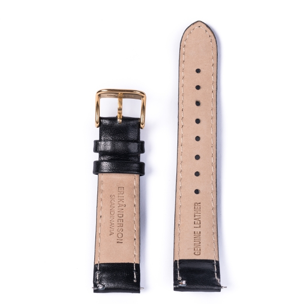 Strap: Black Leather/ Gold